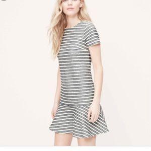 NEVER WORN Loft striped dress